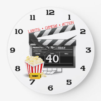 40th Birthday Movie Birthday Party Clocks