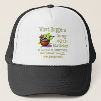40th Birthday Party Gifts Trucker Hat