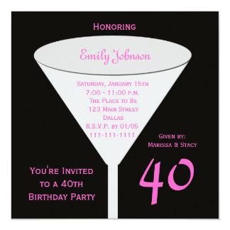 40th Birthday Party Invitation -- 40th Toast