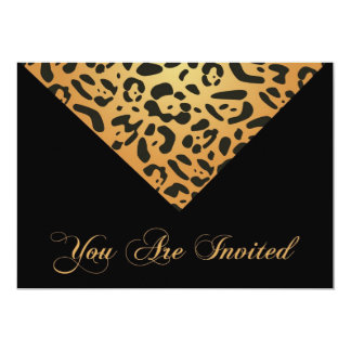 40th Birthday Party Invitation in Leopard