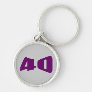40th Birthday Party keychain