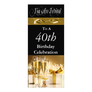 40th Birthday Party Personalised Invitation