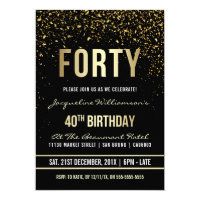 40th birthday invitations announcements zazzle uk 40th birthday party shimmering gold confetti stopboris Gallery