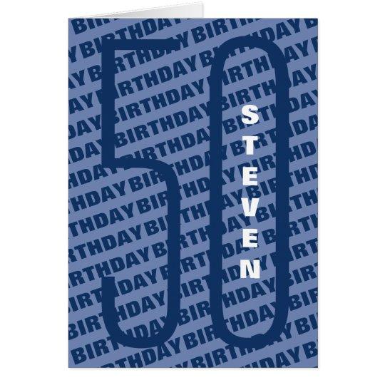 40th Birthday Personalised Blue Card