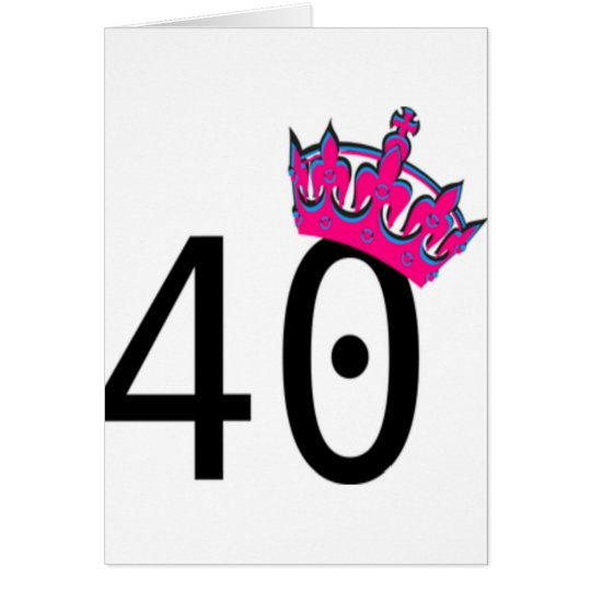 40TH Birthday Princess Card