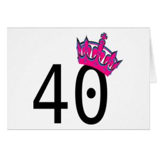 40TH Birthday Princess Greeting Card