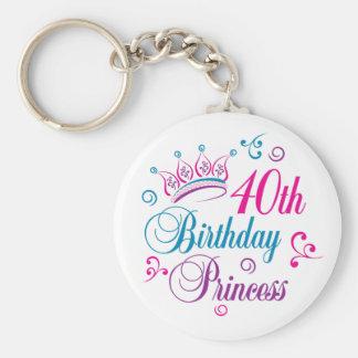 40th Birthday Princess Key Chain