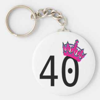 40TH Birthday Princess Key Ring