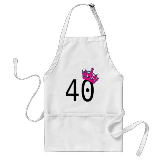 40TH Birthday Princess Standard Apron
