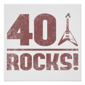 40th Birthday Rocks Print