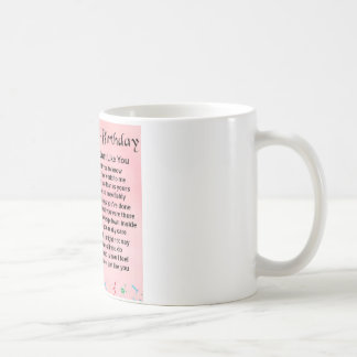 40th Birthday - Sister Poem Coffee Mug