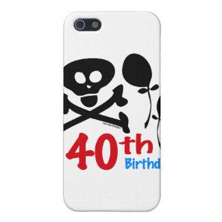 40th Birthday Skull Crossbones iPhone 5 Cases