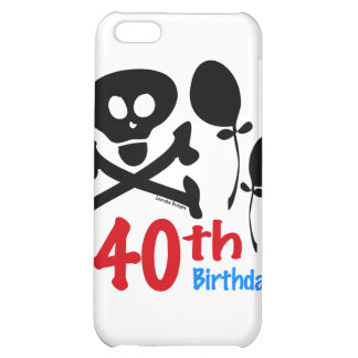40th Birthday Skull Crossbones iPhone 5C Cases
