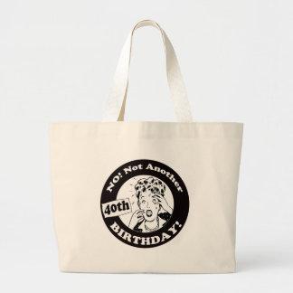 40th Birthday T-shirts and Gifts Jumbo Tote Bag