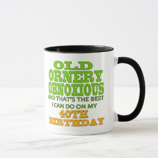 40th Birthday T-shirts and Gifts Mug