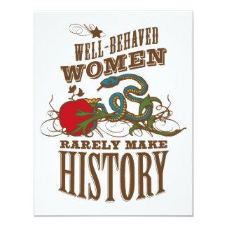 40th Birthday - Wild Woman Make History 11 Cm X 14 Cm Invitation Card