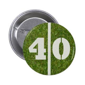 40th Birthday Yard Football Button