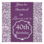 40th BLING Birthday Party Invitation