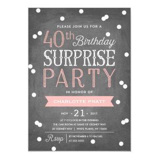 Surprise 40th Birthday Party Invitations & Announcements | Zazzle ...