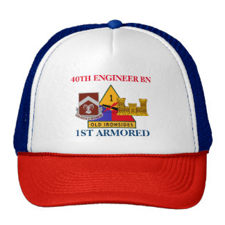 40TH ENGINEER BATTALION 1ST ARMORED HAT