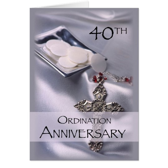 40th Ordination Anniversary Congratulations, Hosts Card