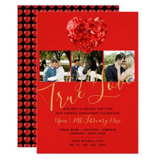 40th RUBY Wedding Anniversary DIAMOND PHOTO Invite