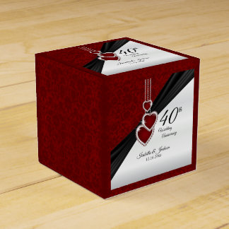 40th Ruby Wedding Anniversary Favour Box