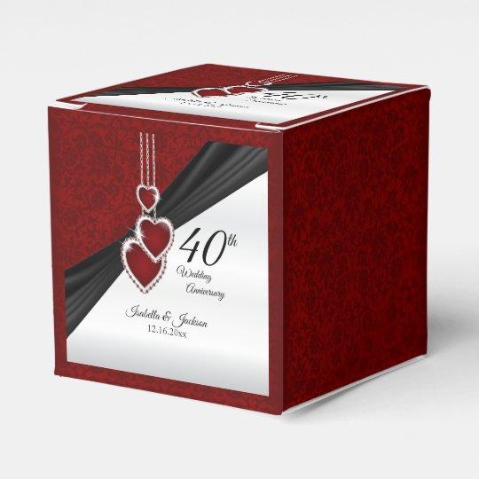 40th Ruby Wedding Anniversary Favour Box