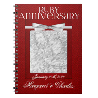 40th Ruby Wedding Annivsersary Guest Book