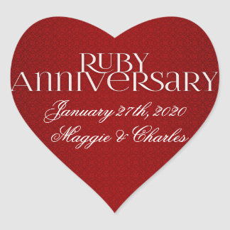 40th Ruby Wedding Annivsersary Stickers