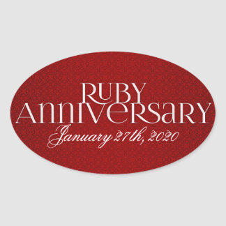 40th Ruby Wedding Annivsersary Stickers