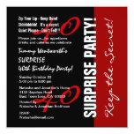 40th SURPRISE Birthday Black Red White W1895