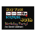 40th SURPRISE Birthday Party Template V01 Personalized Announcement