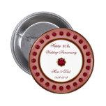 40th Wedding Anniversary Button