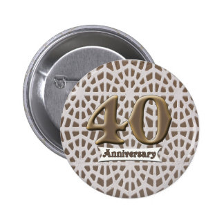 40th Wedding Anniversary Button