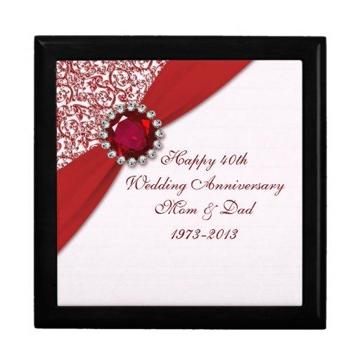 40th Wedding Anniversary Gift Box Zazzle