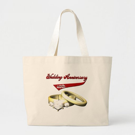 40th Wedding Anniversary Gifts Canvas Bag