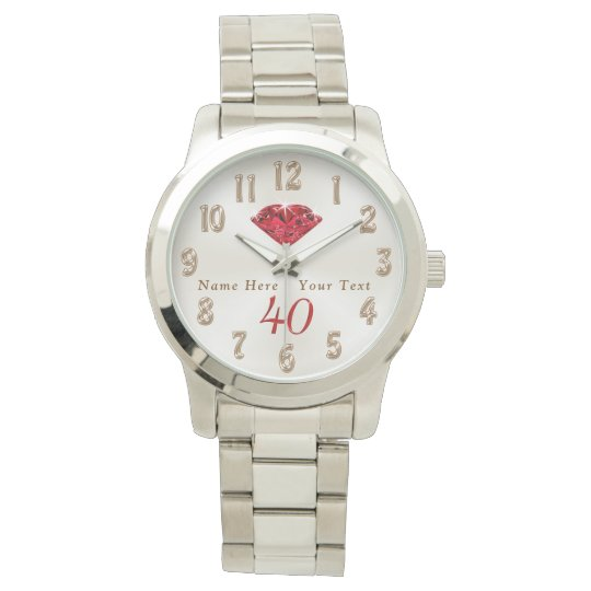 40th Wedding Anniversary Gifts For Wife Or Husband Watch Zazzle