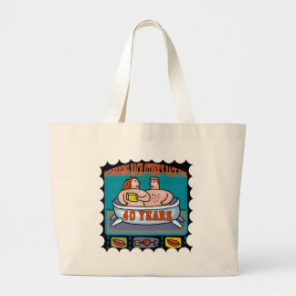 40th Wedding Anniversary Gifts Jumbo Tote Bag