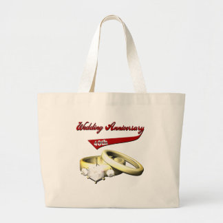 40th Wedding Anniversary Gifts Large Tote Bag