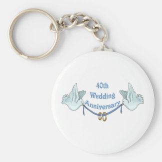 40th wedding anniversary gifts t key ring