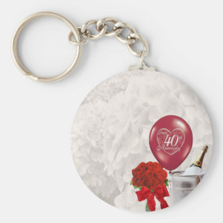 40th Wedding Anniversary Key Ring