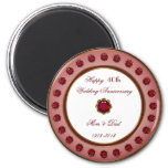 40th Wedding Anniversary Magnet Refrigerator Magnet