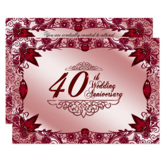 40th Wedding Anniversary RSVP Card