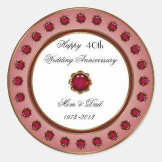 40th Wedding Anniversary Sticker