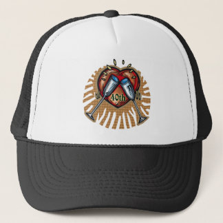 40th wedding anniversary t trucker hat