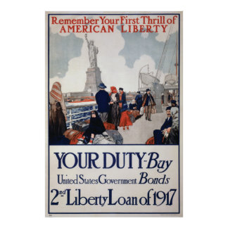40x60 World War I War Bonds Poster