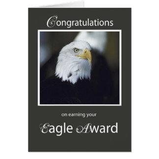 4101 Eagle Award, Congratulations Card