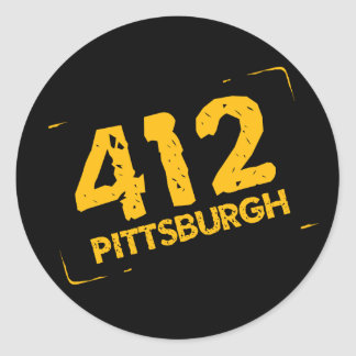 412 Pittsburgh Classic Round Sticker