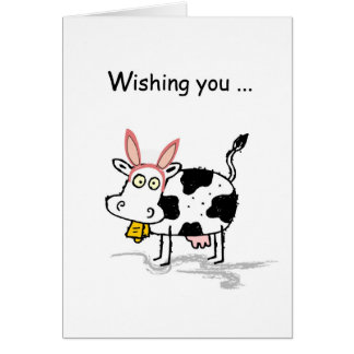 4145 Easter Cow Greeting Card